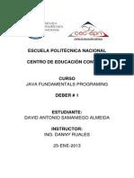 Deber Conceptos Fundamentos Java