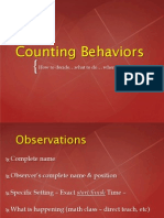 counting behavior