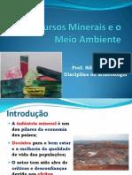 Recursos Minerais e o Meio Ambiente