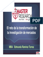El reto de la trsnaformación de la investigación de mercados