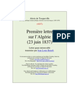 Lettre No 1 Sur Algerie