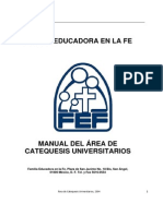 Fef Manual Area Catequesis Universitarios