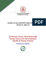 Renewable Energy Policy 2009-14