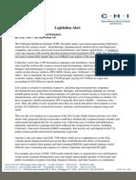California Healthcare Institute (CHI) Opposes H.R. 3309