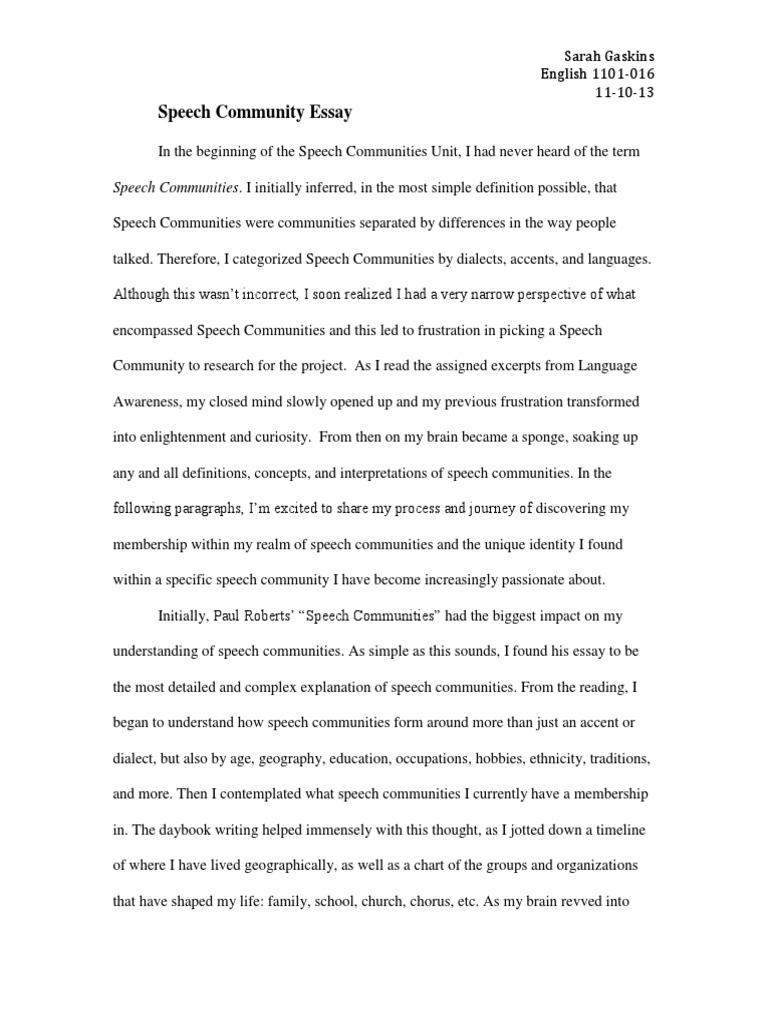 speech community pdf