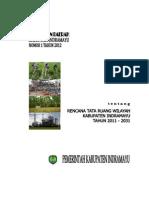 Peraturan Daerah Kabupaten indramayu Nomor 1 Tahun 2012 Tentang Rencana Tata Ruang Wilayah Kabupaten indramayu Tahun 2011 - 2031