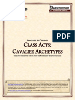Abandoned Arts - Class Acts - Cavalier Archetypes