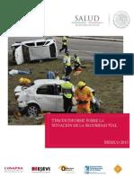 Tercer informe sobre la situación de la seguridad vial - México, 2013 (CONAPRA)