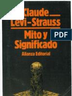 Levi Strauss Mito y Cultura