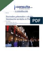 01-12-2013 e-consulta.com - Encienden gobernador y alcalde iluminación navideña en Puebla