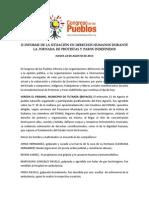 II Informe de DDHH Agosto 2013-Congreso de Los Pueblos