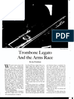 trombone legato and arms race