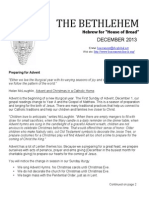 December 2013 Bethlehem Newsletter