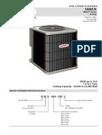 Condensadora Vertical Lennox 13acx de 1.5 a 5 Ton r410a 13 Seer Monofasica