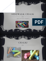 literacy term iii supplement - sidewalk chalk art