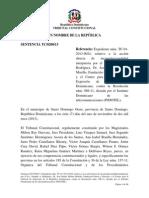 Sentencia TC 0200-13 C