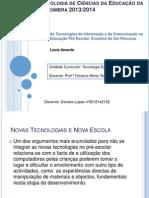 As Tecnologias da Informação e da Comunicação na Educação Pré-Escolar.