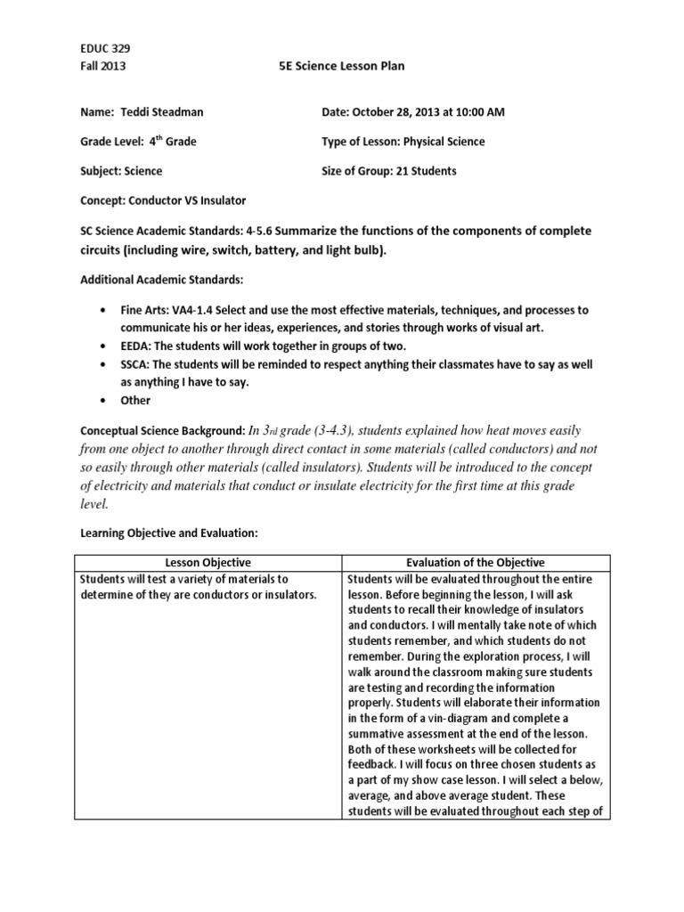 conductor vs insulator sciencelessonplan2