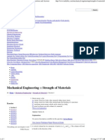 Strength of Materials - Mechanical Engineering Questions and Answers