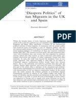 Diaspora Politics of Colombians Migrants
