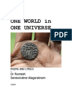 ONE WORLD in ONE UNIVERSE by Dr Romesh Senewiratne-Alagaratnam Arya Chakravarti