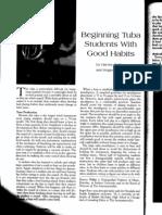 beginning tuba students with good habits