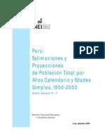 PROYECCIONES DE POBLACIÓN 2050