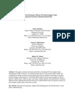 Financial Performance Effect of IT Based SCM