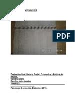 Evaluación_Final_Historia_Social_Económica_y_Política_de_México Dic 2013