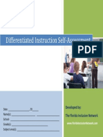 Differentiated Instruction Self-Assessment Tool
