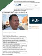 02-12-2013 'Presupuesto de egresos del municipio solo crecerá un 4 ó 5% durante el 2014'.
