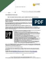 Jazz Studies UCF High School All-Star Jazztet 2014 Press Release