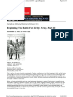 Legion Magazine -Beginning the Battle for Sicily - 050901
