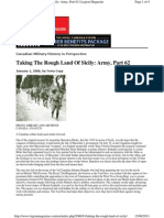 Legion Magazine - Taking the Rough Land of Sicily - 060101