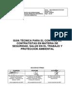 GUIA TÉCNICA PARA EL CONTROL DE CONTRATISTAS EN MATERIA DE SSPA