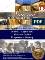 HR Standards Roll Out 20-21 Aug 2013