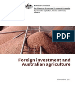 Foreign investment and Australian agriculture