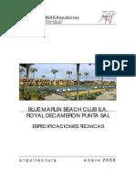 Especificaciones Tecnicas Hotel Royal Decameron