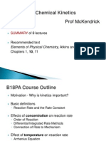 B18PA - Chemical Kinetics - Prof McKendrick - Course Summary-1
