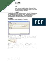 Batch Process- Microstation