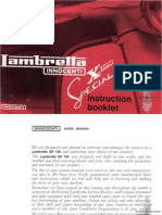Lambretta X150 Special Manual Instruction Booklet