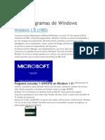 Programas de Windows TERMINADO