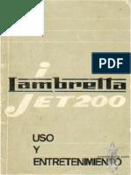 Lambretta Jet200 italian Manual Operation & maintenance
