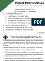 TOLERANCIAS DIMENSIONALES
