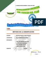 Metodo de La Observacion - Monografia