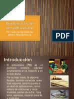 Degradación del poliuretano