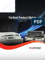 Fortinet Product Matrix September 2013