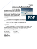 height of a zero gravity parabolic flight