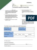 IELTS Re-Evaluation form