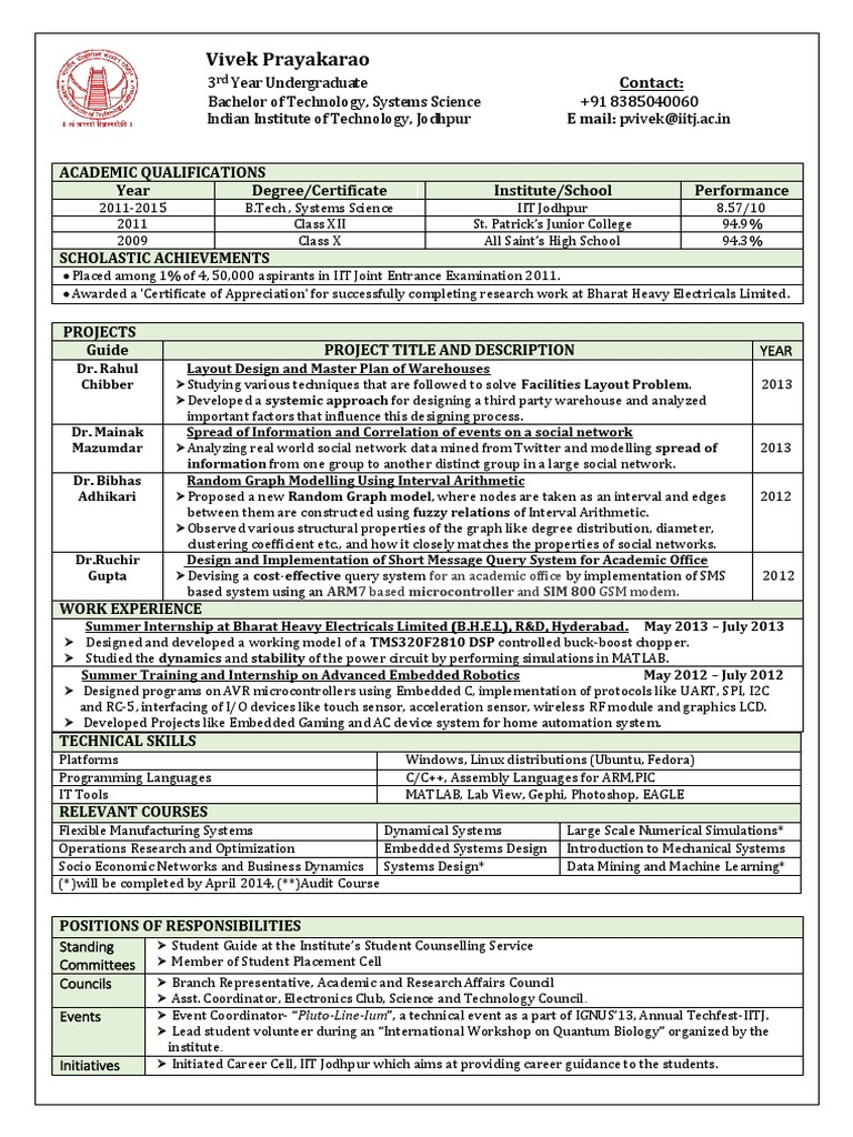 resume vivek embedded system social network rh scribd com 2009 2010 Lakers NHANES Obesity Statistics 2010